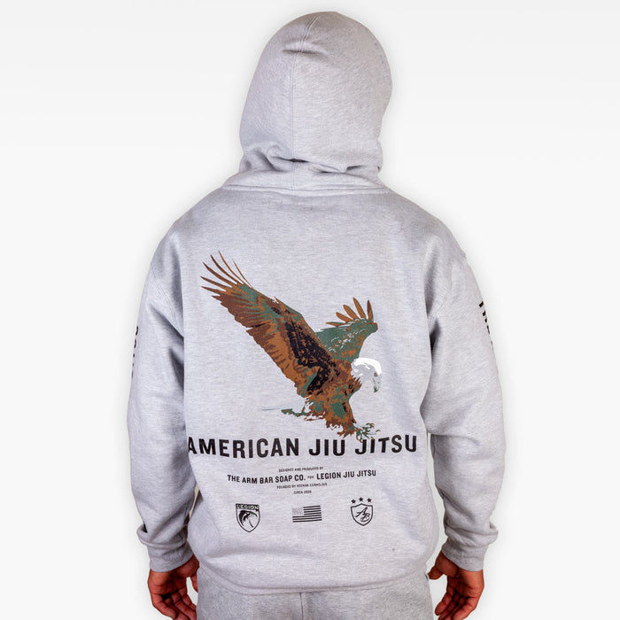 The American Jiu Jitsu Hoodie - Heather Grey
