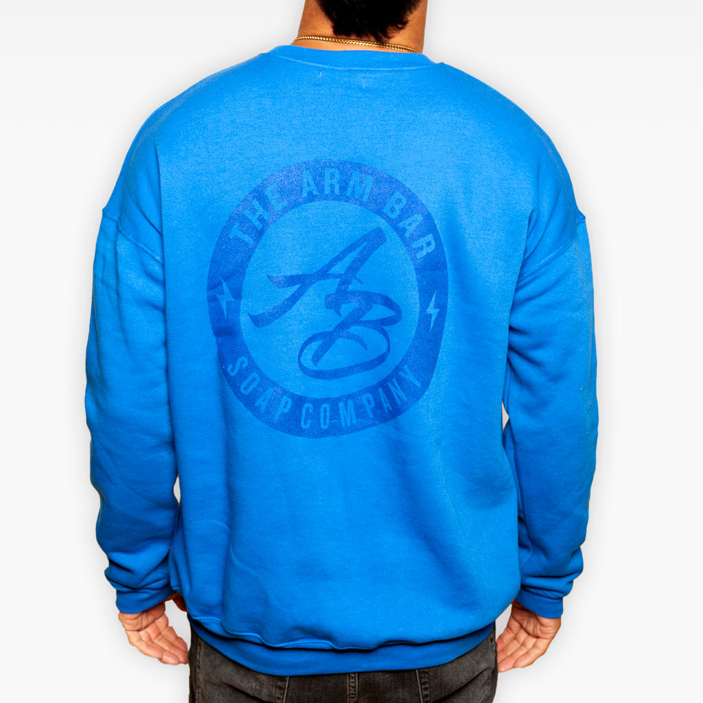The Clear Logo Fleece Sweatshirt - Royal Blue - Apparel - The Arm Bar Soap Company