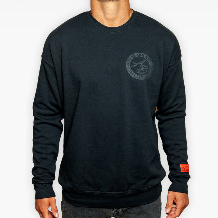The Clear Logo Fleece Sweatshirt - Black - Apparel - The Arm Bar Soap Company