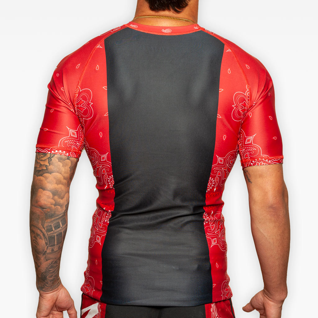 The Bandana Rashguard - Crimson - Apparel - The Arm Bar Soap Company