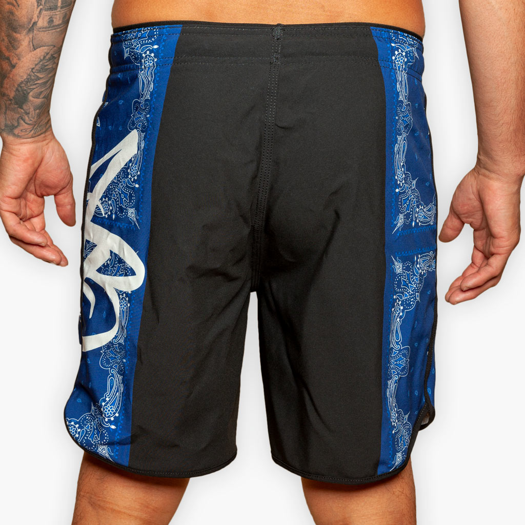 The Bandana Hybrid Training Shorts - Blue - Apparel - The Arm Bar Soap Company