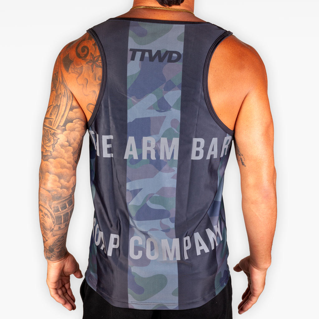 V7 Training Tank - Black + Camouflage + 3M - Apparel - The Arm Bar Soap Company