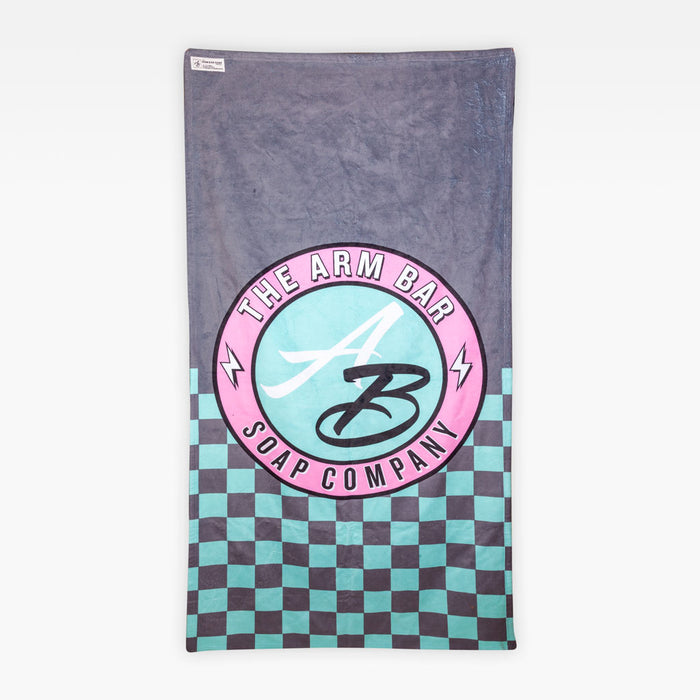 The Thrilla Towel - Teal + Pink