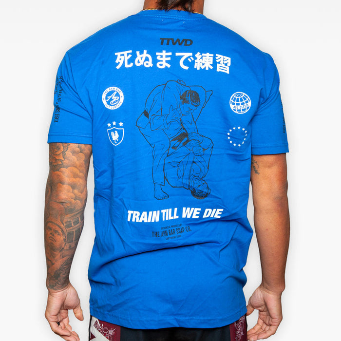 The Triangle Arm Bar Tee - Royal Blue