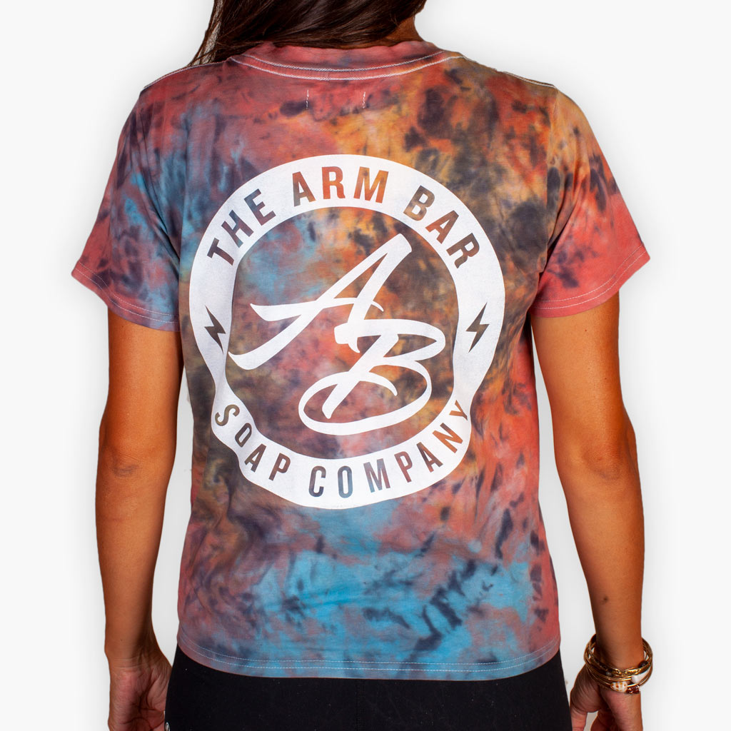 The Dyed in L.A. Women's Tee - Rainbow + White