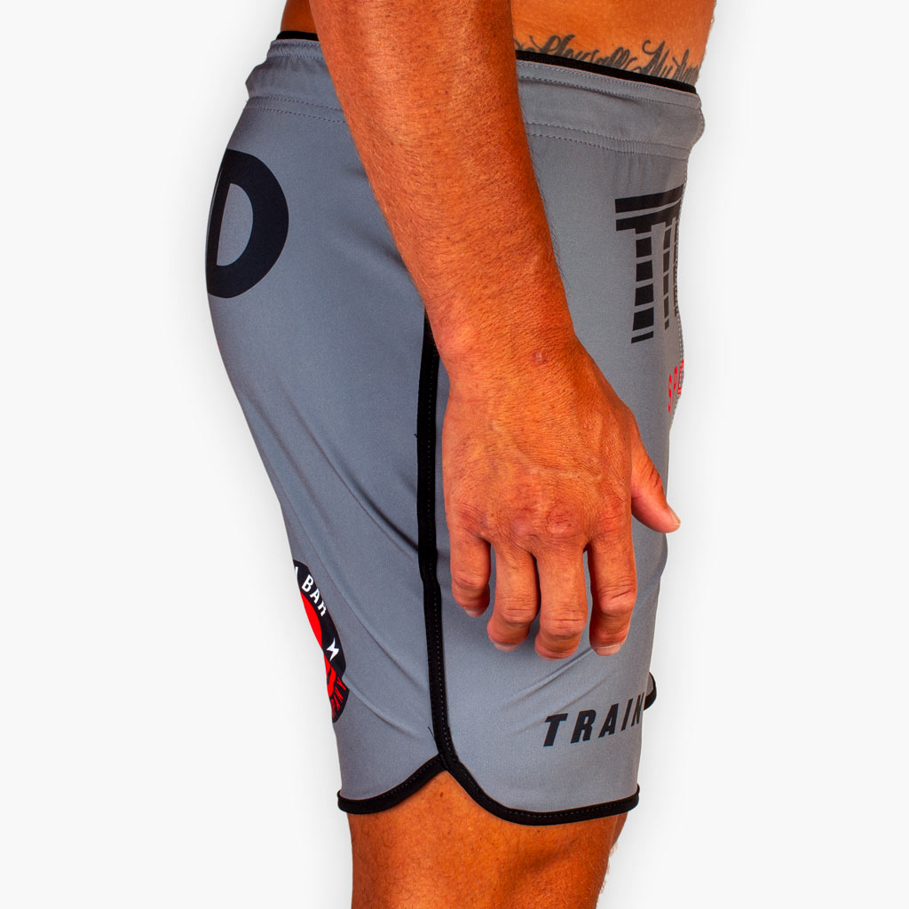 THE TTWD SPORT FITTED TRAINING SHORTS - Gunmetal