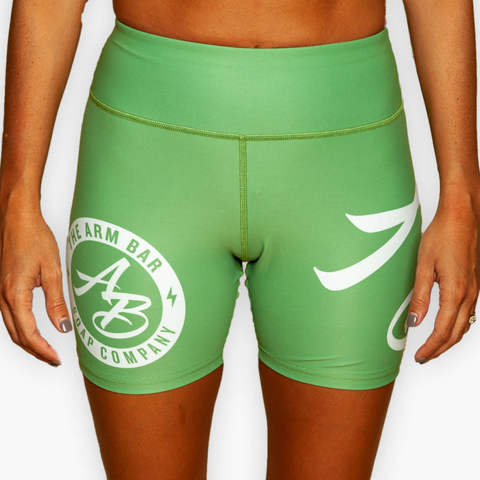The Women's No Gi Competition Compression Shorts - Slime