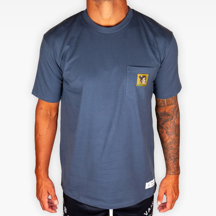 The Fallen Soldier Pocket Tee - Smoky Blue