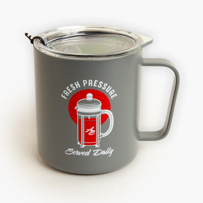 Fresh Pressure Served Daily X MIIR™ 12OZ. CAMP CUP - STONE