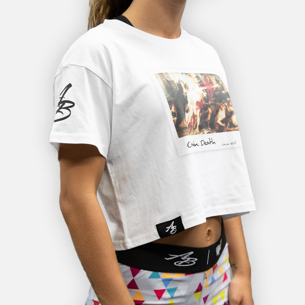 Certain Death Crop Top - White -  - The Arm Bar Soap Company