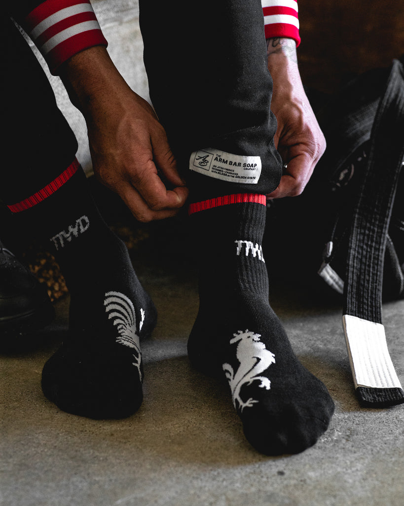 The TTWD Crew Socks - Black - Accessories - The Arm Bar Soap Company