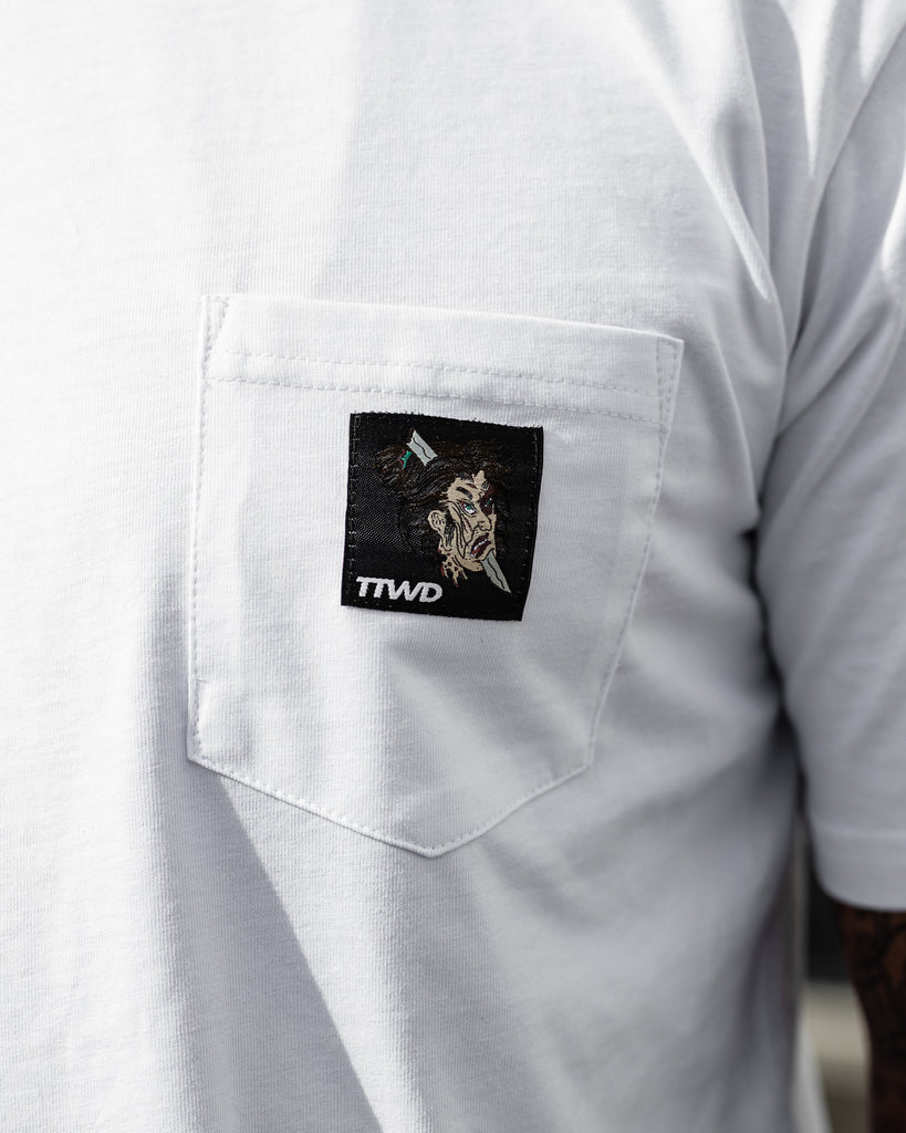 The Fallen Soldier Pocket Tee - White