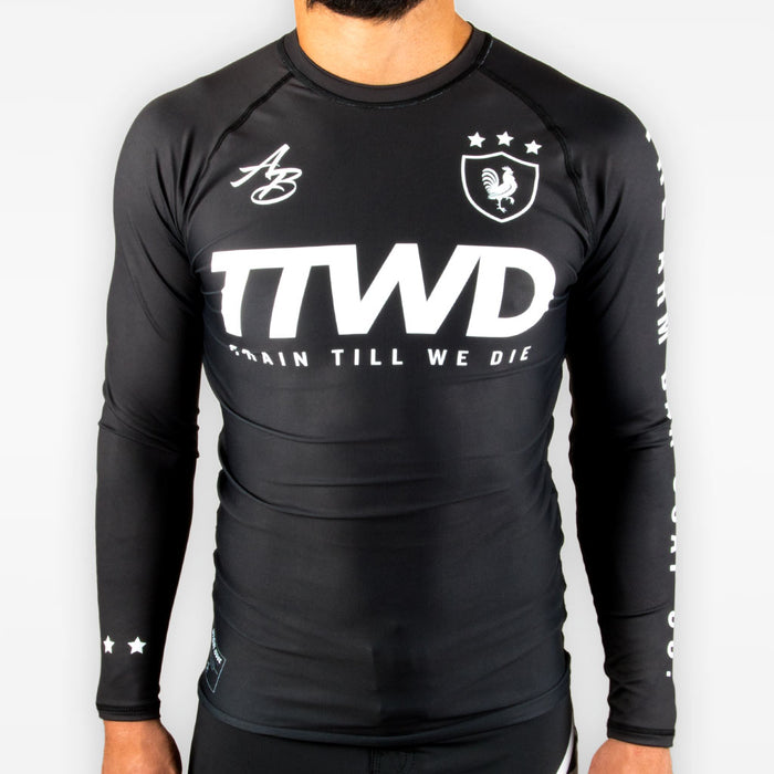 TTWD Rashguard - Black - Apparel - The Arm Bar Soap Company