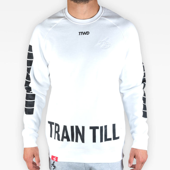 TTWD crew sweatshirt 2 - White - Apparel - The Arm Bar Soap Company