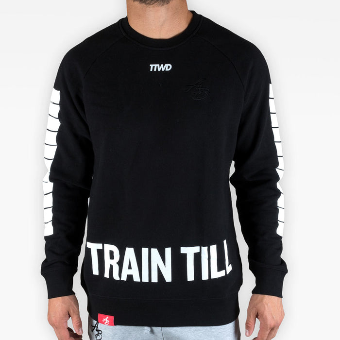 TTWD crew sweatshirt 2 - Black - Apparel - The Arm Bar Soap Company