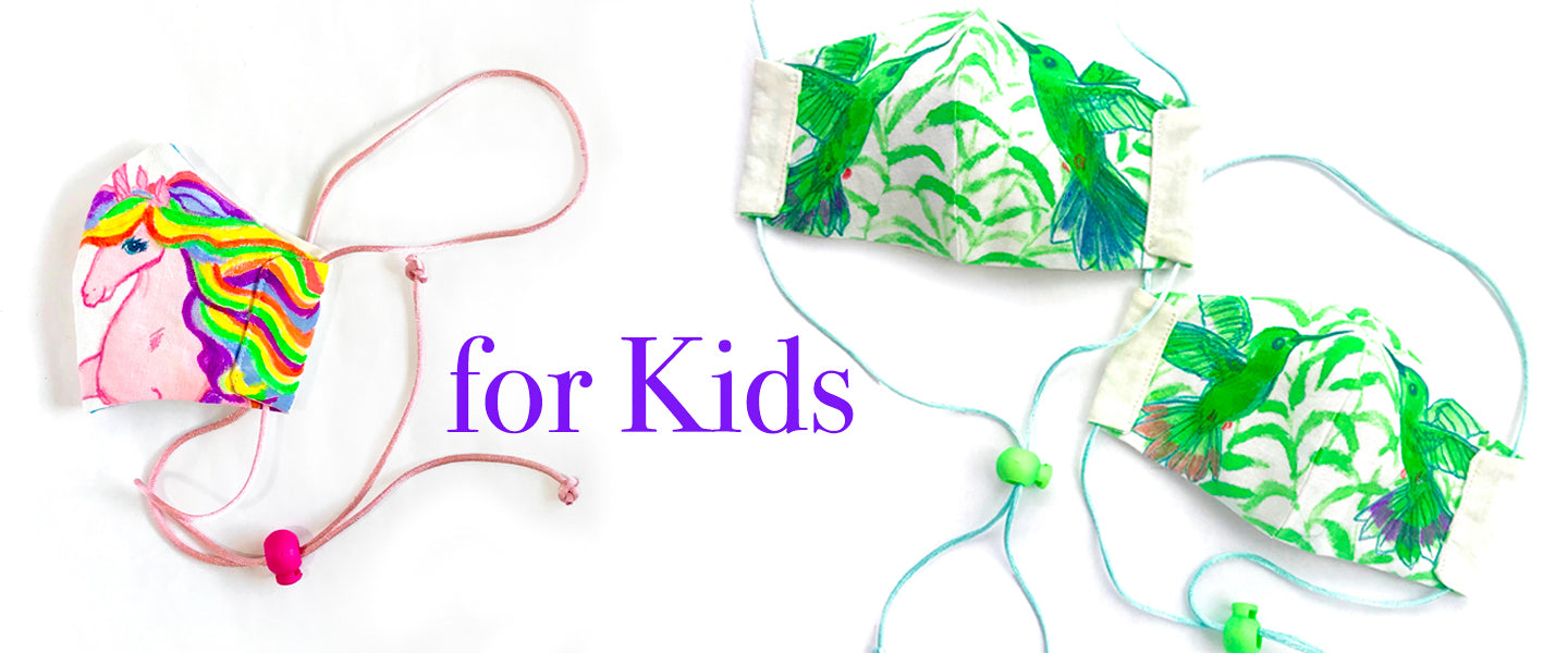 Kids Silk and Cotton face masks
