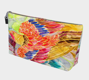 Makeup Bag, Phoenix of Hope, Golden Red
