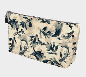 Makeup Bag, Serenity Koi, Sepia