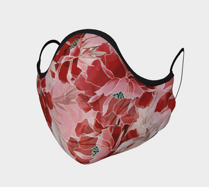 Face Covering, Red Peony