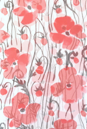 Chiffon Scarf, Warm Red Poppy