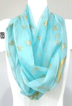 Circle Scarf Blue Celestial Princess