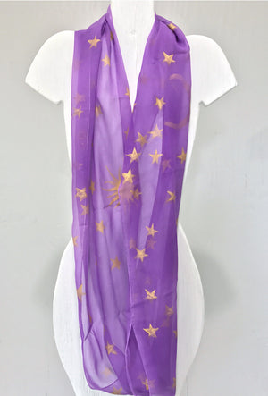 Circle Scarf Purple, Gold, Celestial Princess