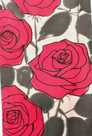 Red Rose Reversible Scarf