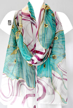 Silk Shawl Wrap, Moon Goddess