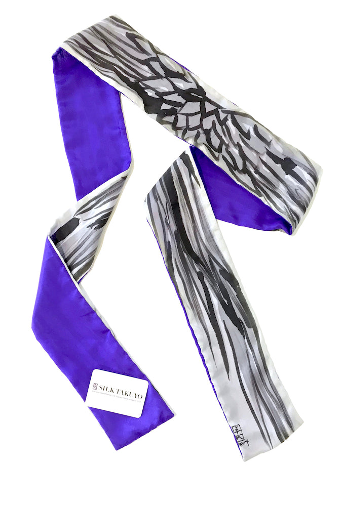 Skinny Scarf, Purple Wing