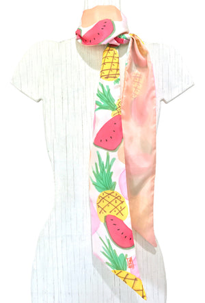 Skinny Scarf, Summer Pineapple Party