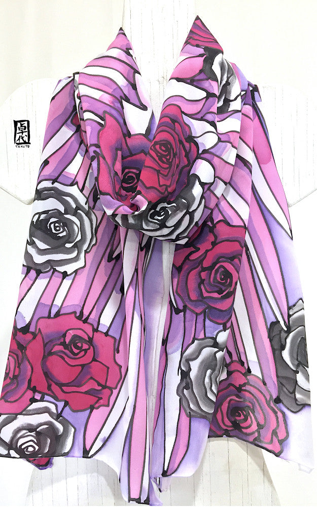Wing Scarf, Pink, Purple