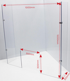 Free Standing Cough Screen with Side Panels - 2 Sizes Available