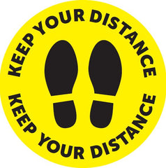 Keep Your Distance Floor Sticker 400mm/500mm  Diameter