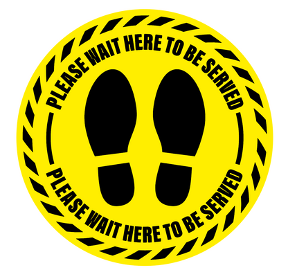 Please Wait Floor Sticker 400mm/500mm  Diameter