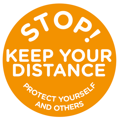 Social Distancing Keep Distance Floor Sticker 400mm/500mm