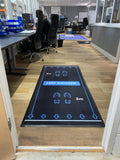 Social Distancing Floor Signage Mat - Design Blue 2000mm X 900mm