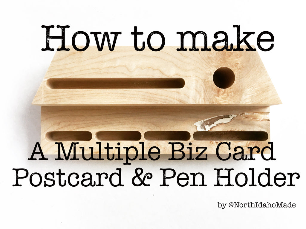 How to make a multiple business card holder, postcard and pen holder.