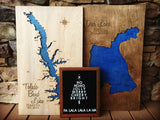 Deer Lake, Washington - Custom Engraved 3-D Wood Map Wall Hanging
