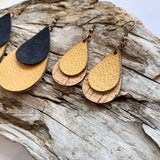Limited Edition Premium Leather and Cork Earrings
