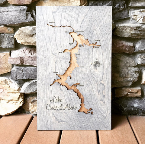 Copper and Grey Lake Coeur d'Alene Map