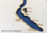 Lake Chelan, Washington - Where Memories Are Made! - Custom Engraved 3-D Wood Map Wall Hanging