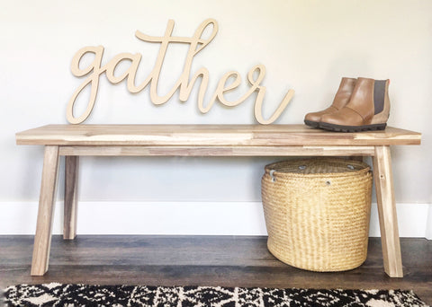 Gather - Cursive Word Cutout - DIY word sign