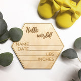 Baby Birth Stat Welcome Sign