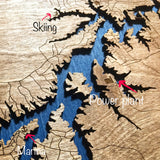 3d Wood Map Hyco Lake