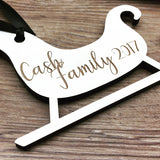 Reindeer Personalized Engraved Wood Christmas Ornament