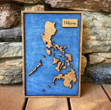 Sand Island Pensacola Florida - 3-D Wood Engraved Wood Map