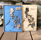 Hawaii - 3-D Wood Engraved Wood Map