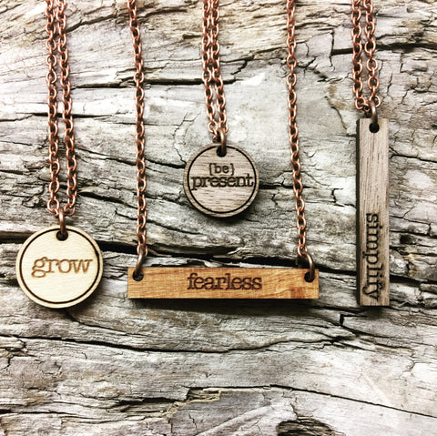 Word of the Year - Affirmation Necklace