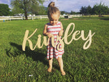 Custom Name - Cursive Word Cutout Sign - Kinsley