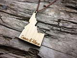 Idaho State Wood Necklace